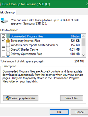 Clean junk Files in Windows 10