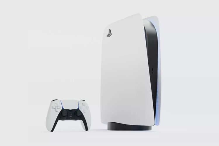 PS5 with DualSense controller