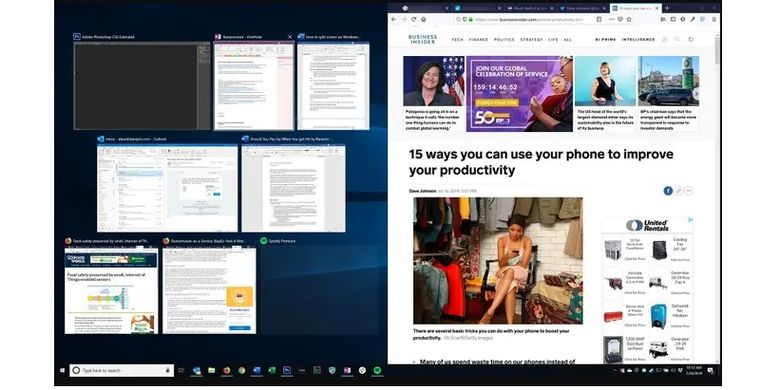 how to do Split Screen on Windows 10
